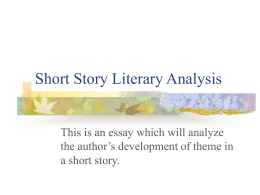 Short Story Literary Analysis