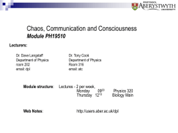 Chaos, Communication & Consciousness