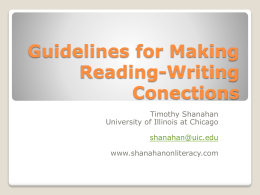 Teaching Writing Effectively Research & Practice