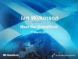 DEVELOPING SCOTLAND'S INTERNATIONAL NETWORKS