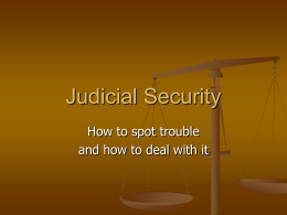 Judicial Security