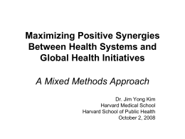 Pathways to Impact Maximizing Synergy Between GHIs …