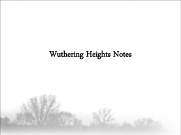 Wuthering Heights Notes