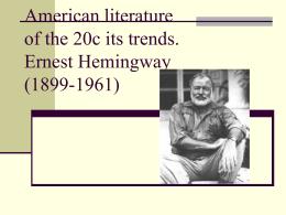 Ernest Hemingway (1899