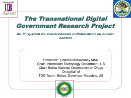 The Transnational Digital Government project