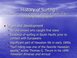 History of Surfing - College of the Canyons