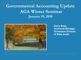 GASB Update - Nashville AGA