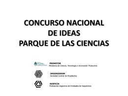 Concurso Nacional de Ideas Parque de las Ciencias