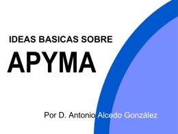 IDEAS BASICAS SOBRE APYMA