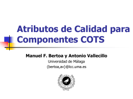 Atributos de Calidad para Componentes COTS