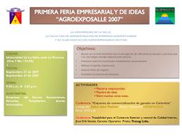 PRIMERA FERIA EMPRESARIAL Y DE IDEAS …
