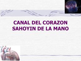 CANAL DEL CORAZON SAHOYIN DE LA MANO