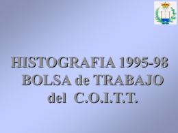 HISTOGRAFIA BOLSA DE TRABAJO