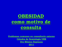OBESIDAD como motivo de consulta