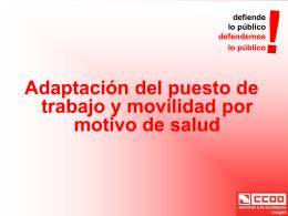 Decreto Movilidad por motivo de salud