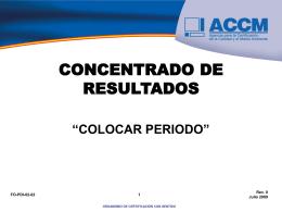 CONCENTRADO DE RESULTADOS