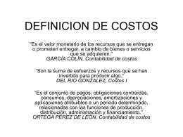 DEFINICION DE COSTOS - Tesci's Blog | Just another