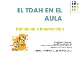EL TDAH EN EL AULA - Aula virtual de los CEP de Granada