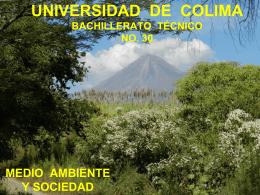 UNIVERSIDAD DE COLIMA BACHILLERATO TECNICO NO. 30