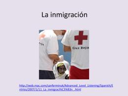 La inmigracion en Espana