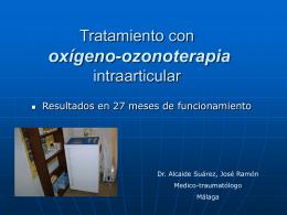Tratamiento con oxigeno-ozonoterapia intraarticular