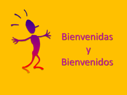 Bienvenidas y Bienvenidos - Tesis ECC 2015 | M.A. Aracelly