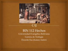 BIN 112 Hechos - boliviabiblia