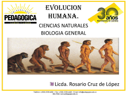 EVOLUCION HUMANA.