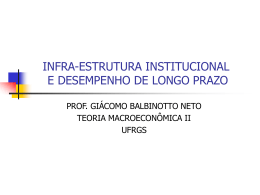 INFRA-ESTRUTURA INSTITUCIONAL E DESEMPENHO DE …