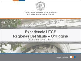 Experiencia UTCE Regiones Del Maule – O'Higgins Claudia