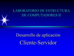 LABORATORIO DE ESTRUCTURA DE COMPUTADORES II
