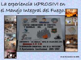 Manejo Integral del Fuego.