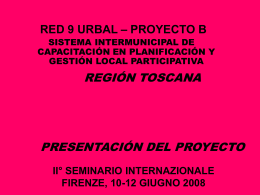 RED 9 URBAL – PROYECTO B R9-B1-06