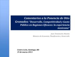 """Comentarios a la Ponencia de Otto Granados: """"Desarrollo"""