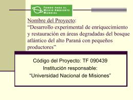 Nombre Del Proyecto - Secretaria de Ambiente y …