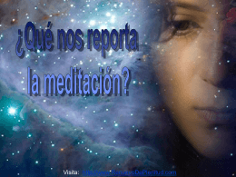 Why Meditate? - Renuevo De Plenitud