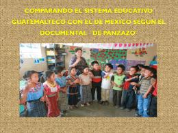 Comparando el sistema educativo guatemalteco con el de