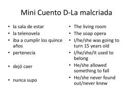 Mini Cuento D-La malcriada