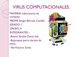 VIRUS COMPUTACIONALES.