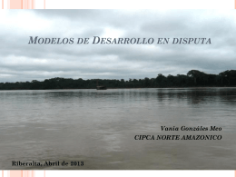 Modelos de Desarrollo en la Amazonia Boliviana