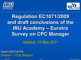 Title of Presentation - IRU