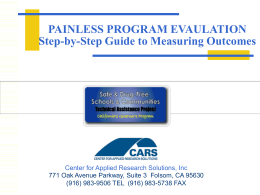 Painless Program Evaluation PPT