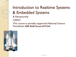 Introduction to embedded systems and realtime systems