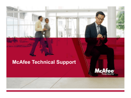 McAfee Technical Support - Intel Security Partner Program