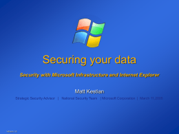 Securing your data Drill down into Data Security with