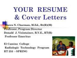YOUR RESUME - El Camino College