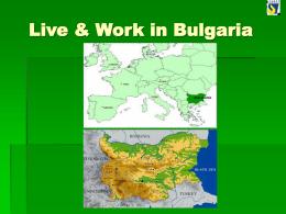Live & Work in Bulgaria - Nodarbinātības valsts aģentūra
