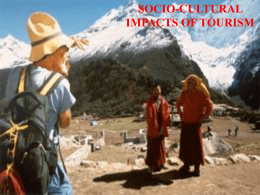 Tourism - socio-cultural impact