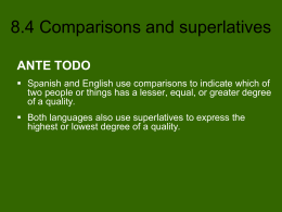 8.4 Comparisons and superlatives