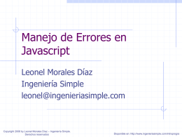 Manejo de Errores en Javascript